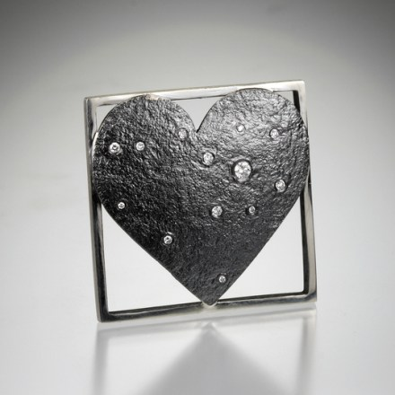 starry night heart pin