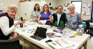 Polymer Clay class participants