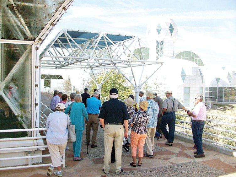 TRIPS participants heading into the Biosphere 2 tour.