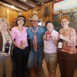 Cowboy and some of the ladies get ready to do some wine tasting at the Triangle T Guest Ranch