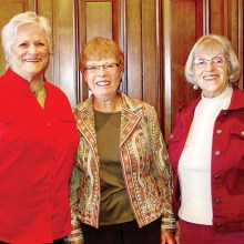 Quail Creek's X-traordinary X-tra Ladies (from left): Dianne Thomson, Peggy McGee and Margaret Blumberg.