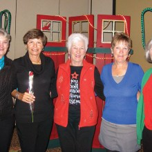 Most holes-in-one: Bonny Wilcox, Alice Dyke, Darthea Tilley, Karen Stensrud and Betty Martens
