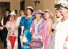 The Tombstone Vigilettes gather to meet TWOQC; photo by Eileen Sykora