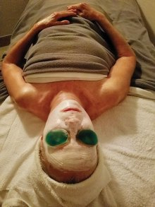 Not only is a facial good for one's skin but it is a totally relaxing experience for mind and body; photo by Rebecca Willer.