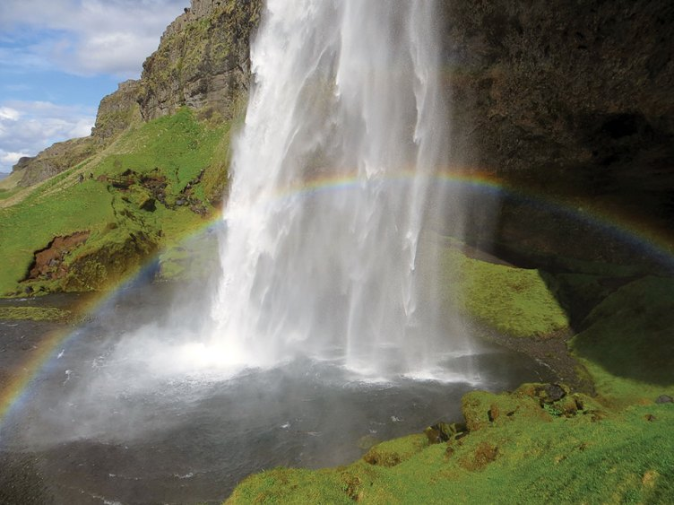 Lois Haglund's second-place photo, Iceland Rainbow