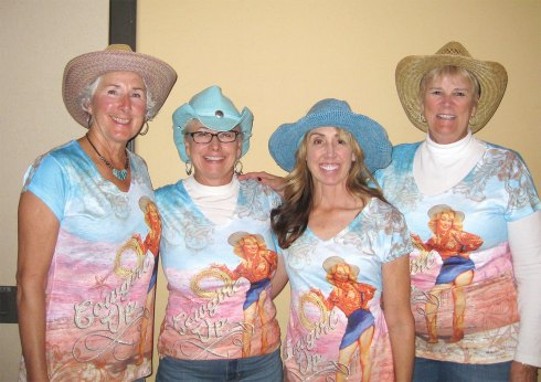 Flight 1 winners (left to right) were: Chris Could, Kathy Stotz, Amy Carmien and Dian Simmons; Photo by Terri Erickson.