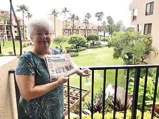 Palm trees and sea breezes, along with the Crossing, were enjoyed by Linda and Cliff Freese this past January in Maui.