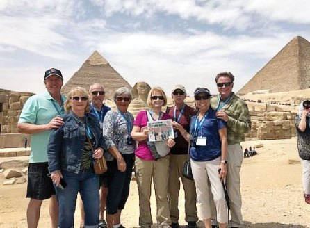 Recently exploring the Great Pyramids and other wonders in Egypt were the Averys, Pensyls, Gardners and Stanleys. Is a camel ride in your future?