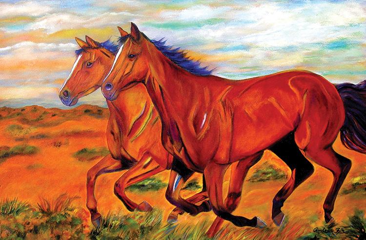 Ginny's scratchboard horse.
