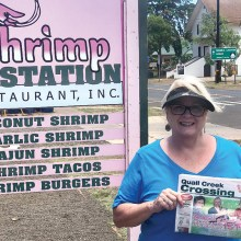 Where's the shrimp? Becky and Jeff Ashin found the best shrimp in Waimea, Kauai, Hawaii during their May vacation.