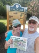 Ed and Diane Zoretic of 33B are reading their copy while visiting the Outer Banks, Duck, N.C.