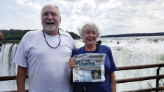 Pat and Joe McCarthy traveled to Iguazu Falls in Argentina, with a final destination of Santiago, Chile.