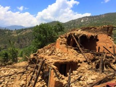 All 165 houses in the village were destroyed. 19 people were killed, mostly women (2 of them pregnant) and children.