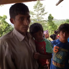 Bharat Nepali lost his 8-year-old daughter in the quake. She was hit by a rock as she tried to flee from her falling house.