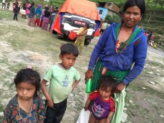 """Sarita Ghale (of Haku-9) lost her husband in the quake. When asked if she lost a family member, she said yes she lost her """"shrimati"""" (""""wife"""" in Nepali). Most women we met could only communicate in Tamang, their mother tongue."""