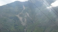 We saw threatening landslides all over Rasuwa
