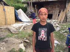 Sagar, 12, lost his father in the quake. His mother left the family many years ago to be with someone else. He is now living with his ageing grandparents.