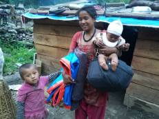 Some of the mothers in Alampu who received special supplies through Nehi Fund