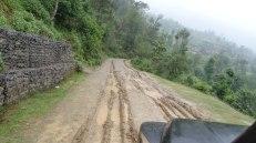 Roads were muddy due to rain