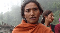 Sanimaya Thami of Alampu-3. She took 2 lakh rupees loan from a Khadka family three months ago and sent one of her sons to Malaysia. The interest rate is 36%. Like most Thami women whose husband or son is working abroad, she is heavily burdened with debt.