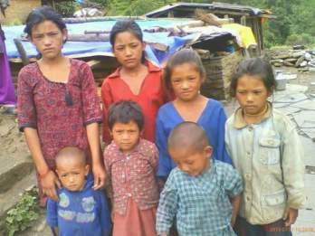 Thami siblings from Alampu: Yammaya (16); Rita (13); Tirtha Kumari (10); Mani Kumari (8); Memmaya (6); Debraj (4); Bhim Bahadur (2). Their mother died on 4 July 2015 and their father have been mentally unbalanced since. Memmaya is now living with her uncle, a wageworker in Darjeeling, India.