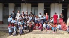 Saraswoti School kids, teacher and parents