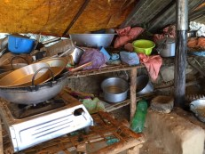 A kitchen in Sankhule camp