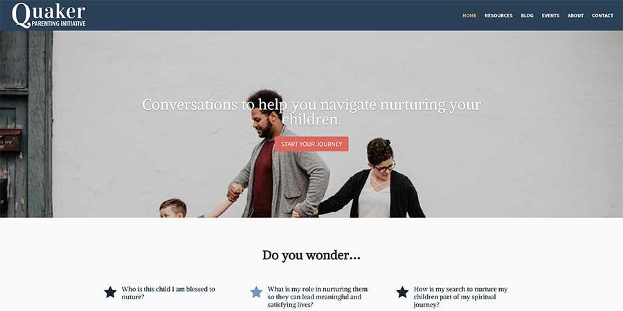 Quaker Parenting Website feature