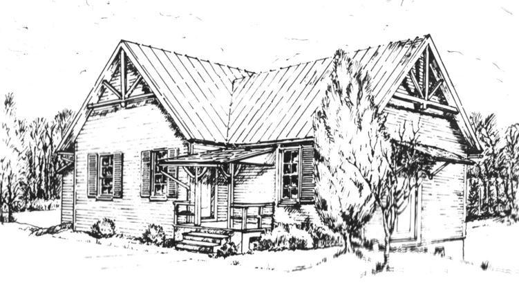 Meetinghouse LineDrawing