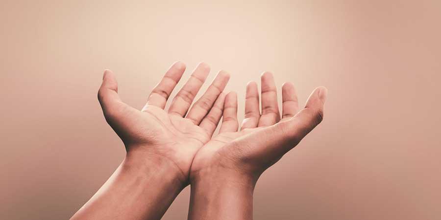 Hands up praying