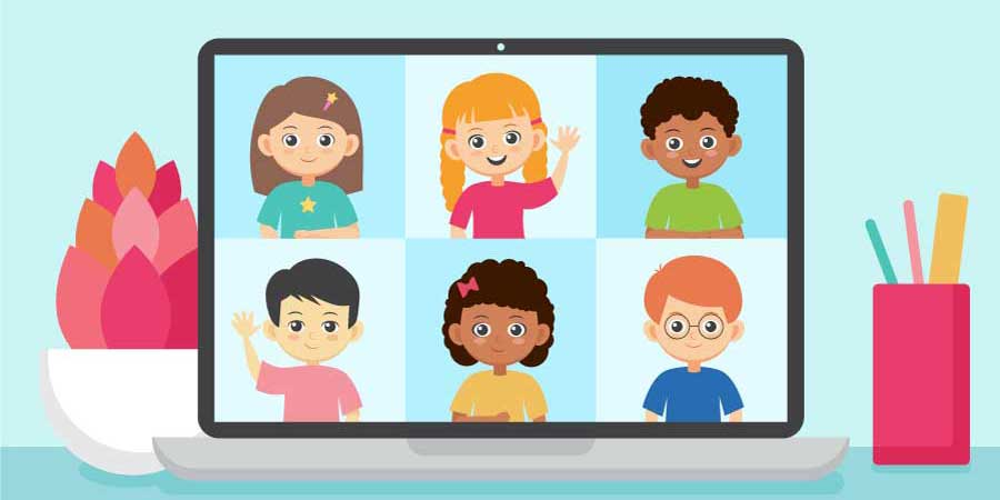 Kids Online Zoom feature