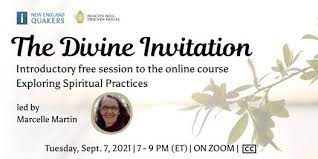 The Divine Invitation: free introductory webinar to the Exploring Spiritual Practices online course