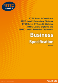 BTEC Nationals Business 2010 Pearson Qualifications