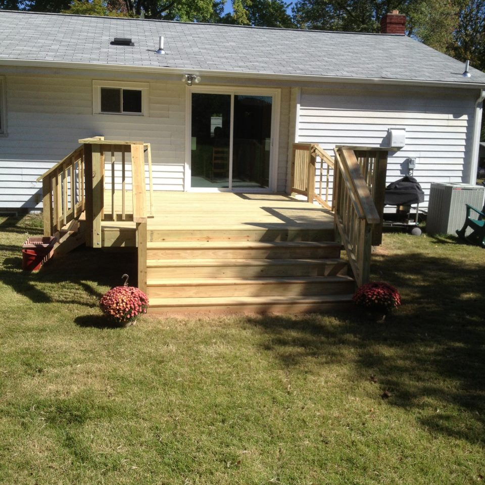 Nw deck and back door, deck building in Bowie MD