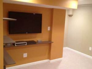 Basement Remodel by Qualis Construction