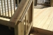 Strong stair railing with smooth finish