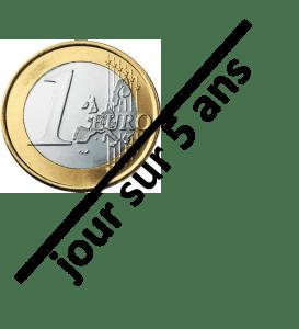 1€ par jour