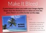 Graphic explaining print bleeds