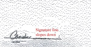 Compare slope of signature lines cropped