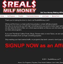 Real Milf Money Adult Affiliate Program
