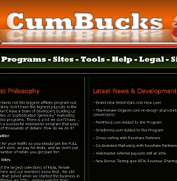 CumBucks Adult Affiliate Program