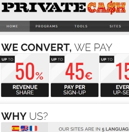 PrivateCash Adult Affiliate Program
