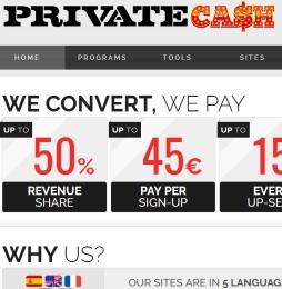 PrivateCash Adult Affiliate Program