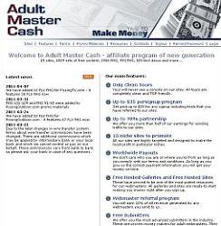 AdultMasterCash Adult Affiliate Program
