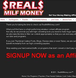 Real Milf Money Adult Affiliate Program