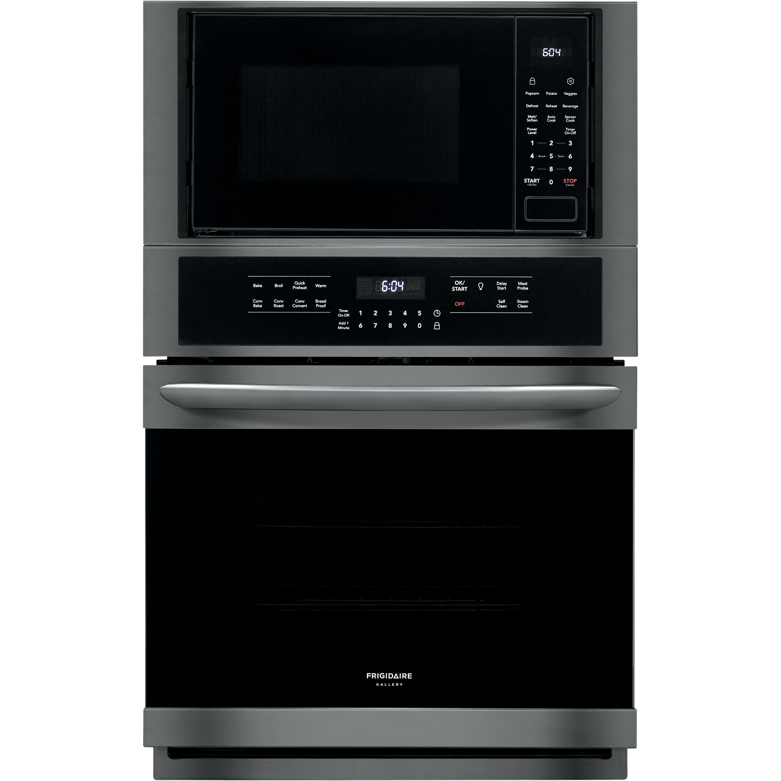 fgmc2766ud frigidaire frigidaire gallery 27 electric wall oven microwave combination in black stainless steel