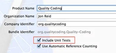 Just click the checkbox to enable Xcode unit testing!