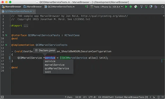 Extract variable in AppCode