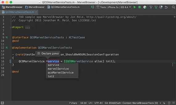 Extract variable in AppCode
