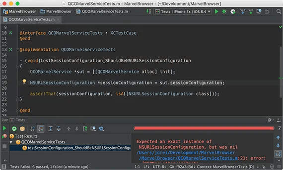 Run tests in AppCode